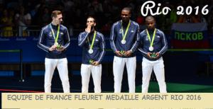 Equipe de France de Fleuret Médaille d'argent RIO 206