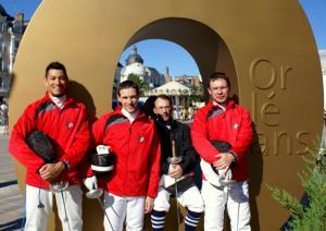 Equipe du C. E. de Blois Pierre Law-Athion,David Renoux, Aubry Danse, Pierre Lurin